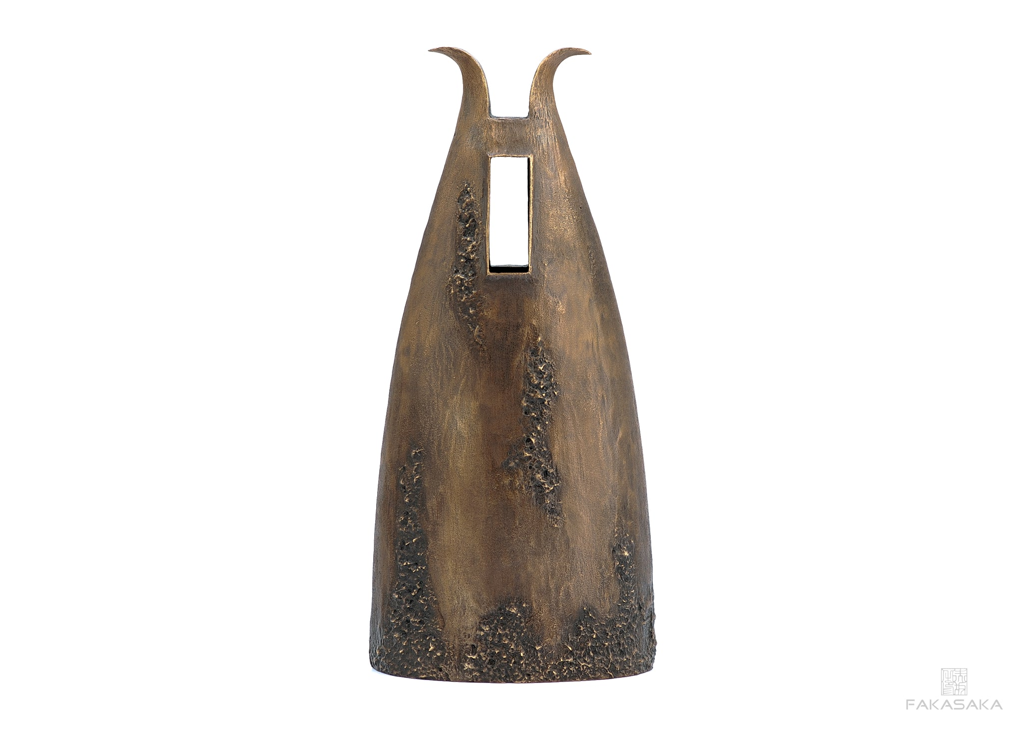 GARRY VASE <br><br>DARK BRONZE