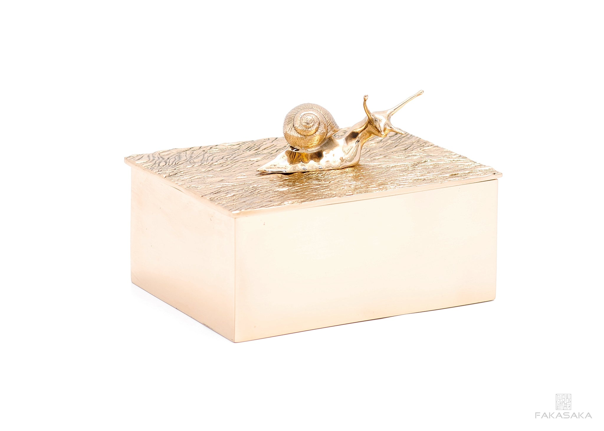 NICKS BOX<br>L'ESCARGOT DROITE ON TOP<br><br>POLISHED BRONZE