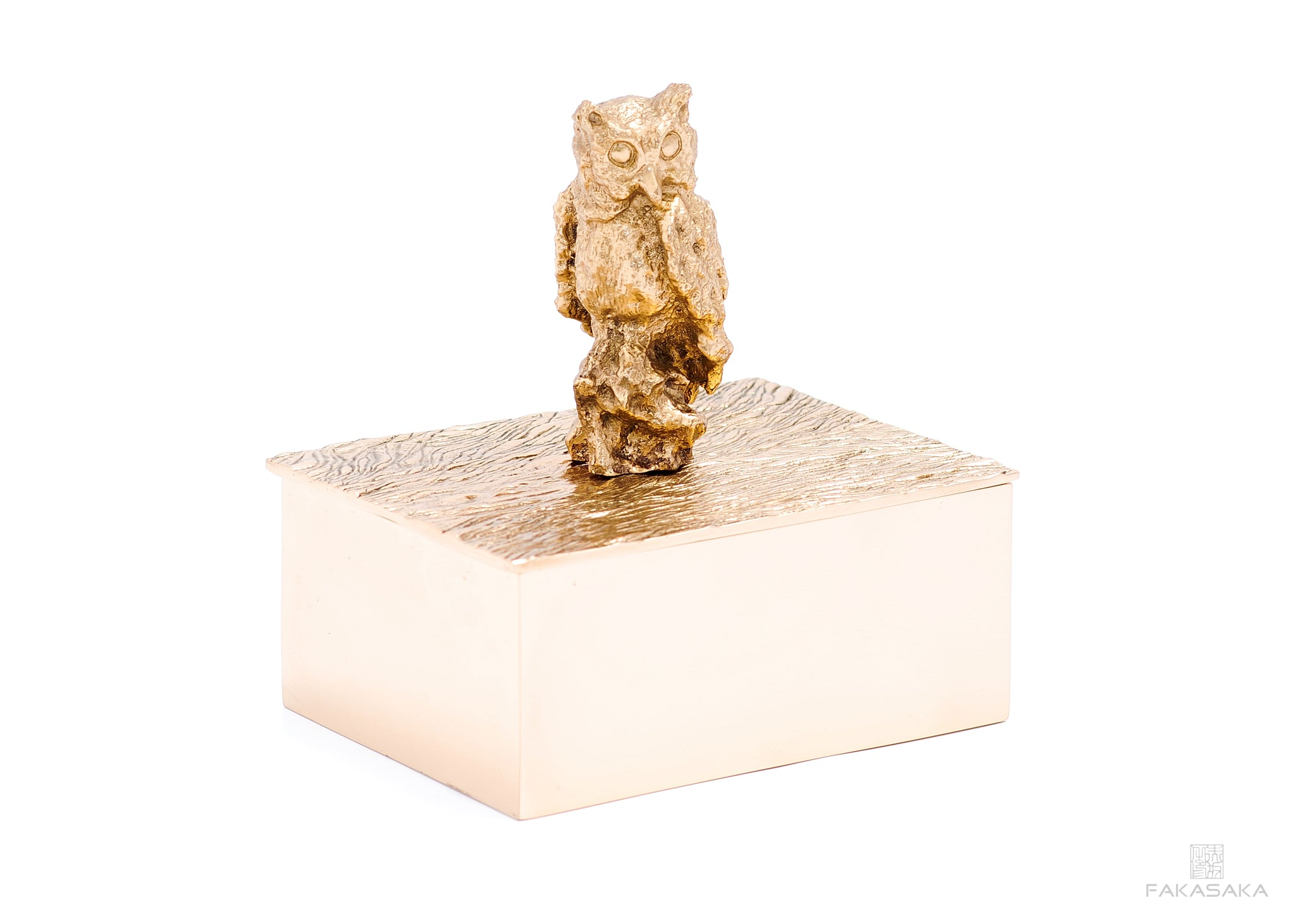NICKS BOX<br>OWL ON TOP<br><br>POLISHED BRONZE