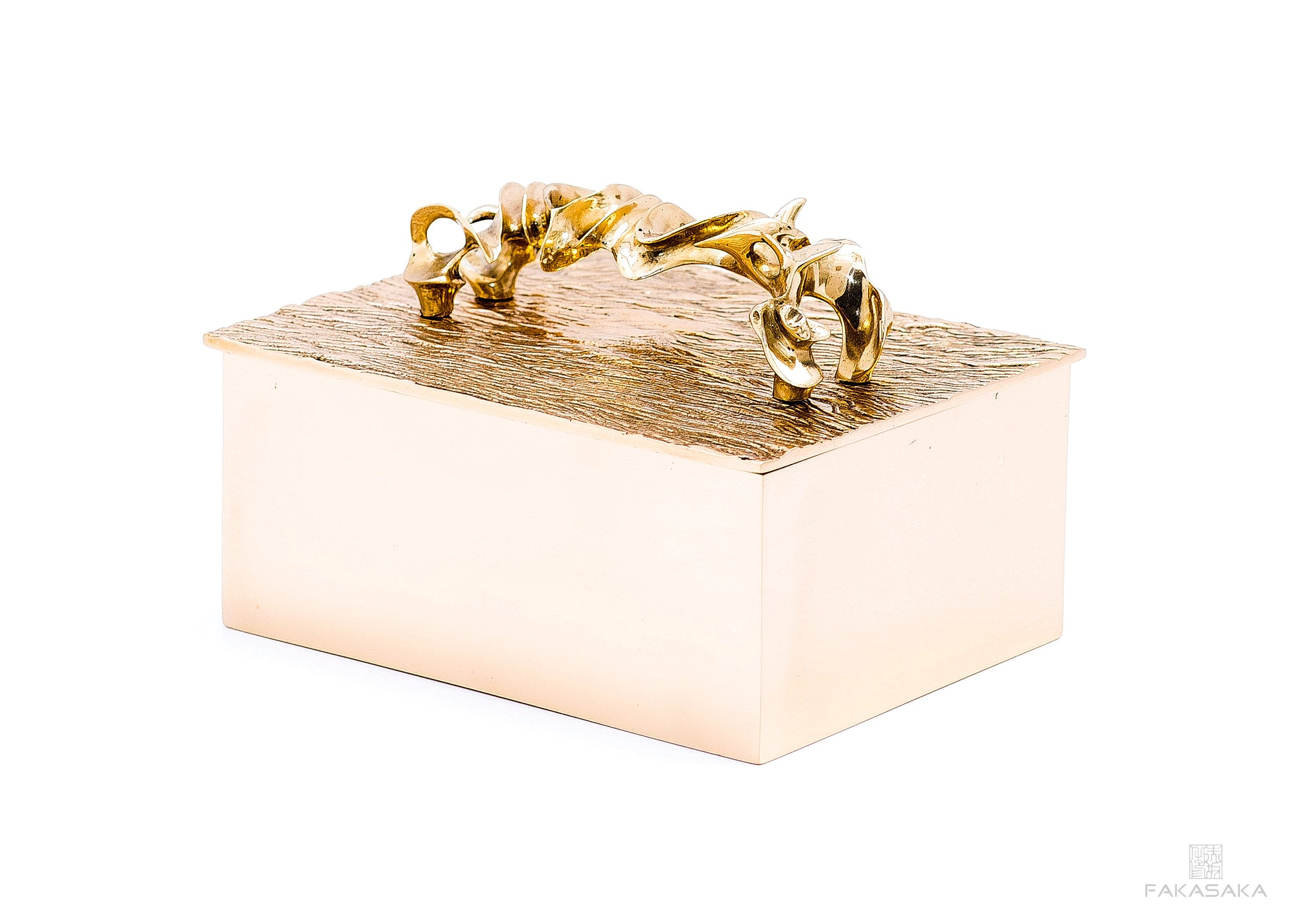 NICKS BOX<br>HANDLE ON TOP<br><br>POLISHED BRONZE