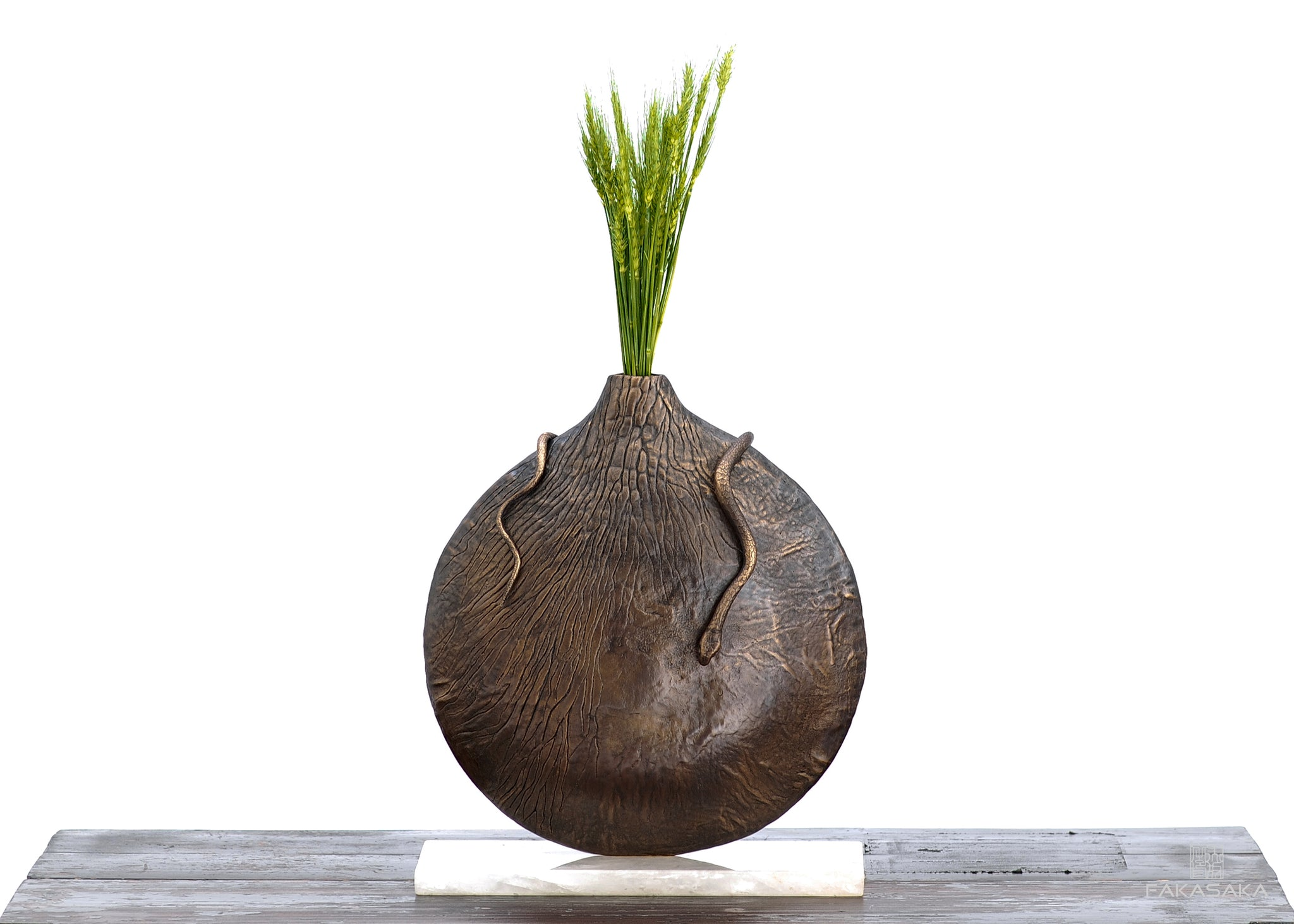 SUPERT VASE <br><br>DARK BRONZE