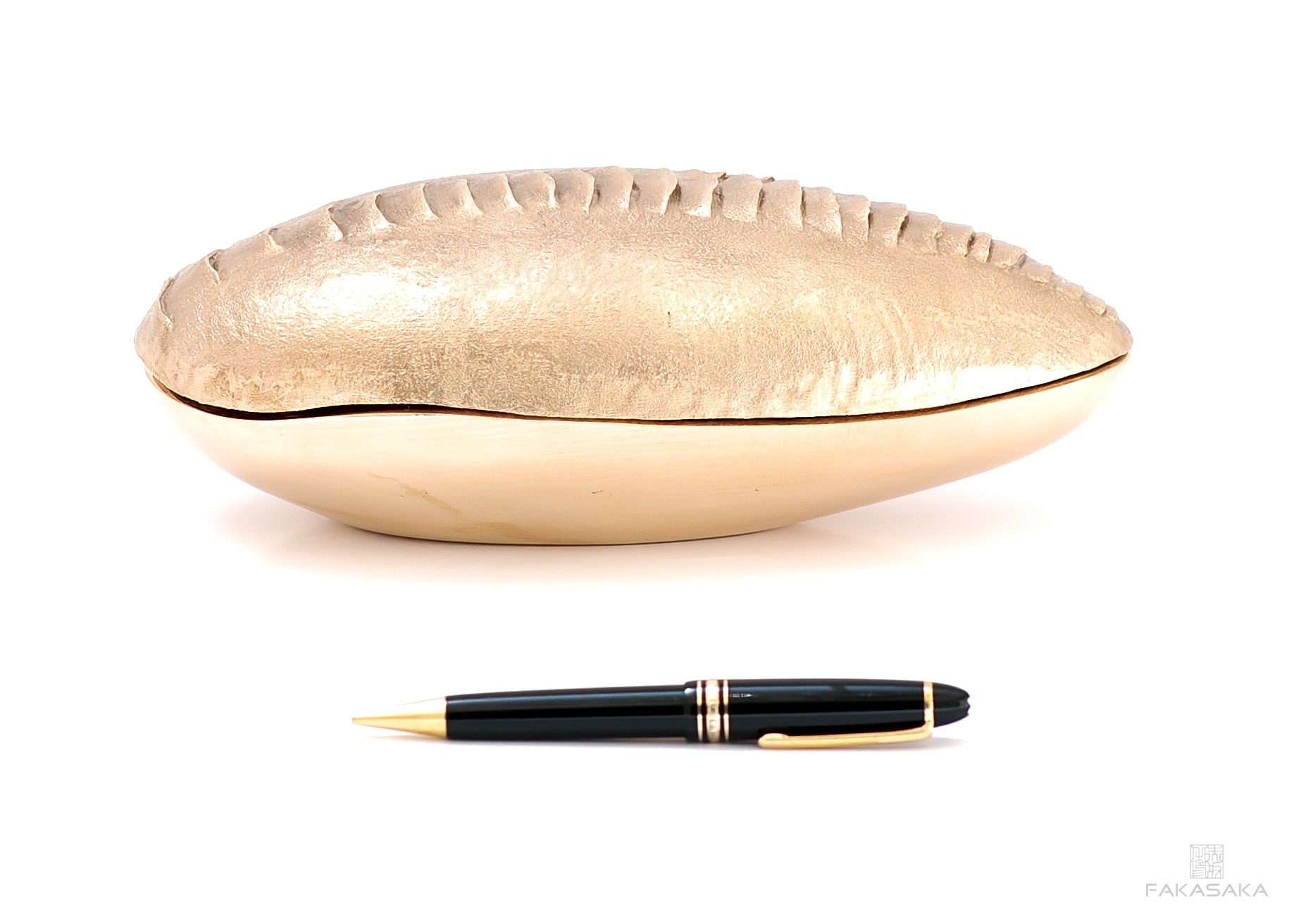 PEARL BOX / ASHTRAY<br><br>POLISHED BRONZE