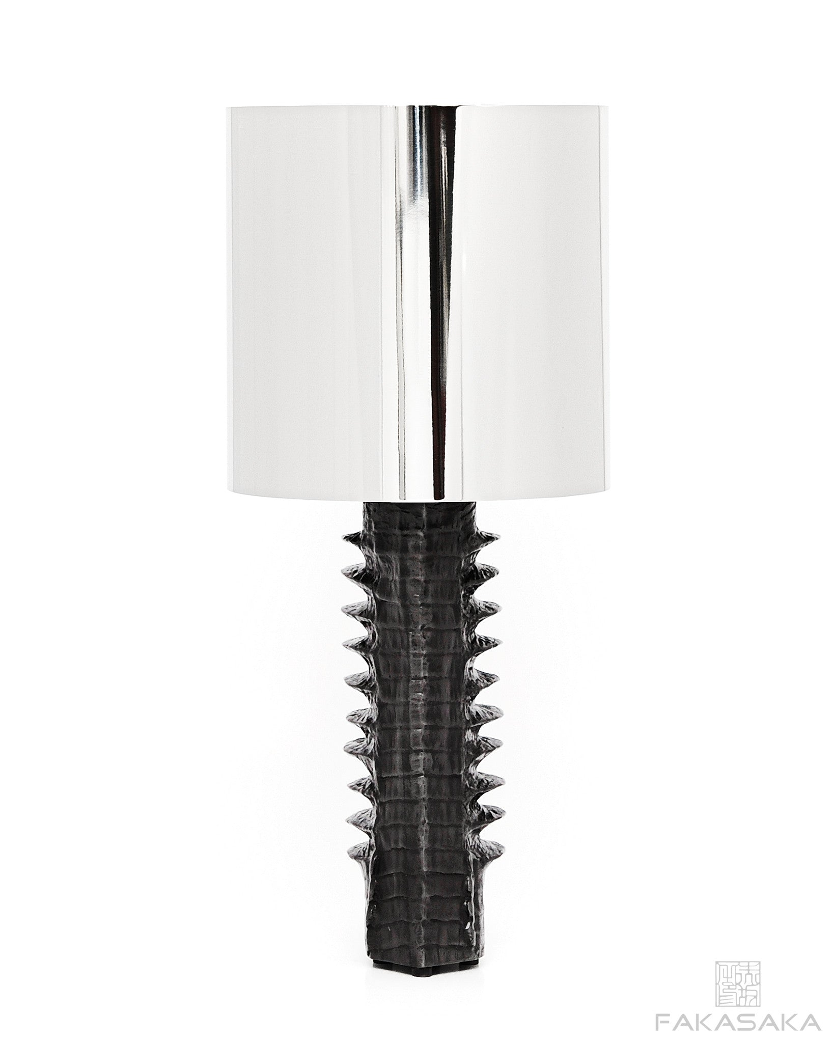 DEAR RICK TABLE LAMP<br><br>DARK BRONZE<br>NICKEL SHADE