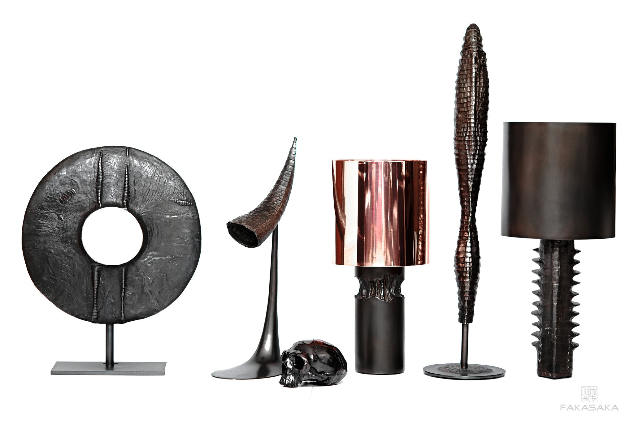 WEIRD FISH TABLE LAMP<br><br>DARK BRONZE