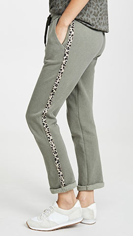 Trouser W/ Leopard Trim