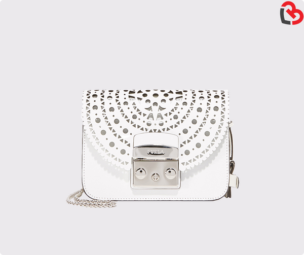FURLA Metropolis Bolero Crossbody Bag (White)