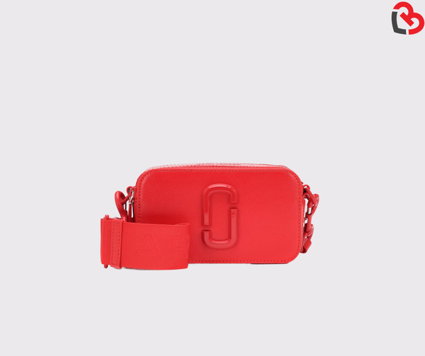 Marc Jacobs Snapshot Dual-tone Leather Crossbody Camera Bag In Poppy Red Multi