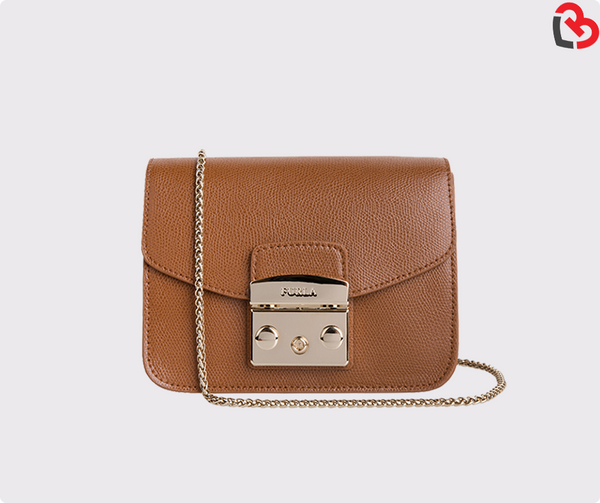 Furla Metropolis Nocciola B Mini Crossbody Bag