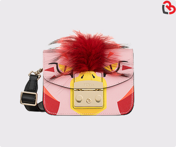 Furla Multicolour Toni Glicine Metropolis Jungle Crossbody Toni Petalo