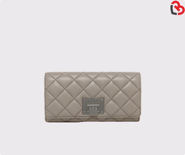 Michael Kors Pearl  Grey Outlet Wallet