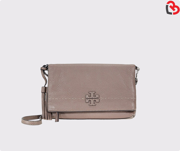 Tory Burch Silver Maple Fold-Over Crossbody