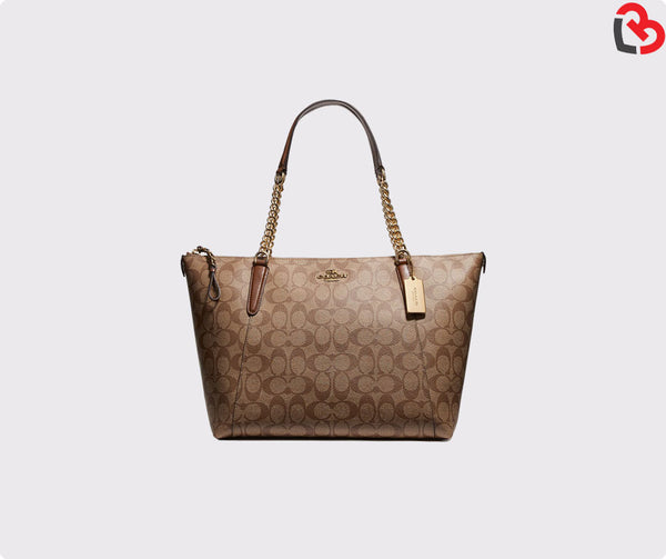 Coach Ava Chain Tote In Signature Canvas (F23526)