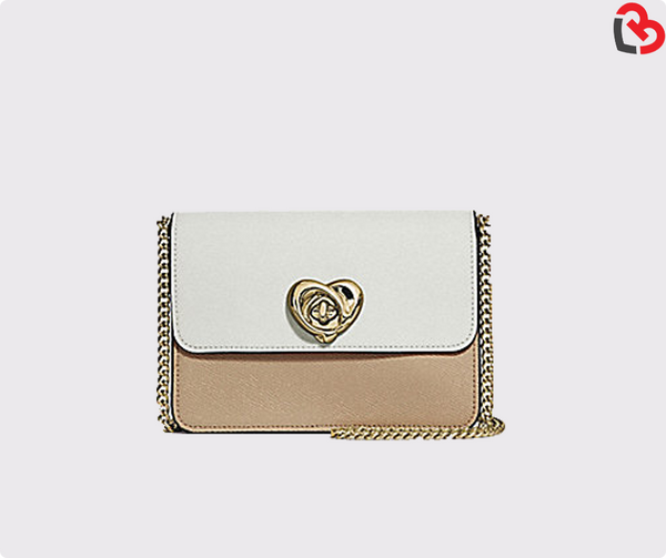 Bowery Crossbody In Colorblock With Heart Turnlock (F44963)