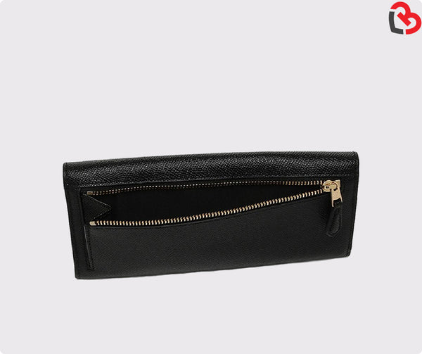 Coach Black Crossgrain Leather Wallet