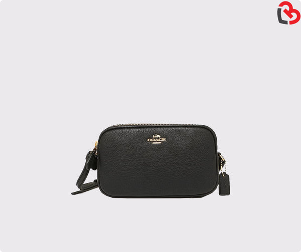 COACH Double Zip Crossbody Pouch F65988 (Gold/Black)