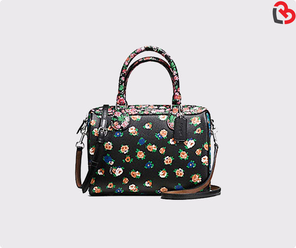 Coach Mini Bennett Satchel In Floral Mix Print (F57626)