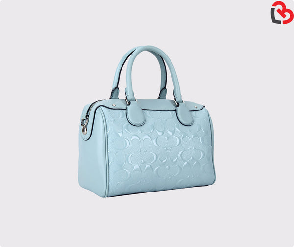Coach Mini Bennett Satchel In Signature Debossed Patent Leather (F11920)