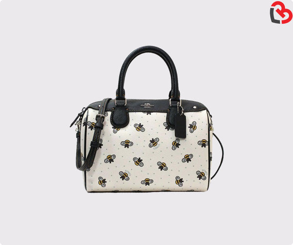 Coach Mini Satchel With Bee Print (F26167)