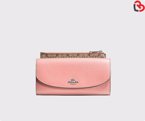 Coach Ppop Slim Envelope In Crossgrain Leather (F52628)