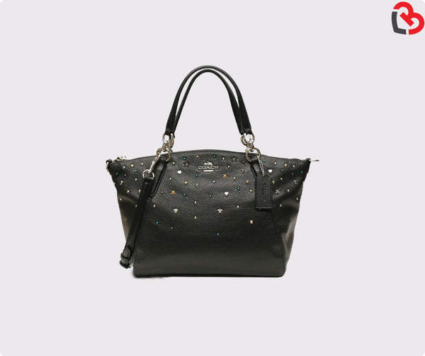 Coach Small Kelsey Satchel With Stardust Studs (F22312)