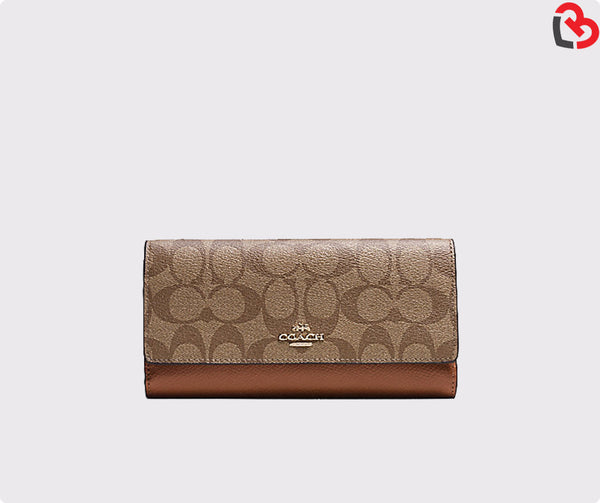 Coach Trifold Wallet In Signature (F53763)