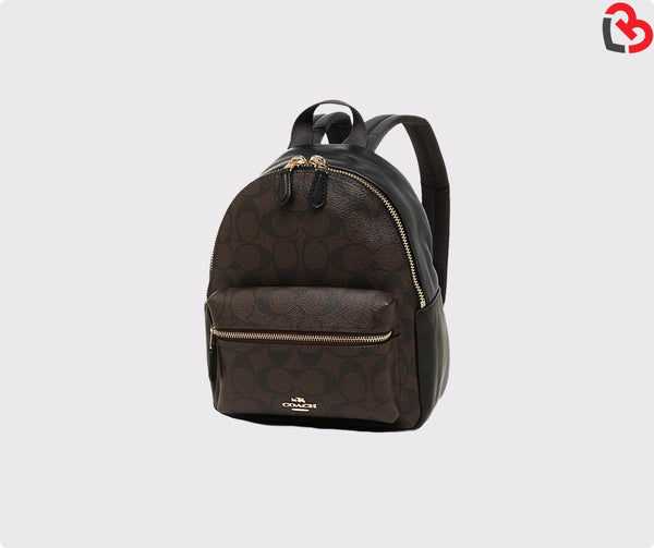 Coach Mini Charlie Backpack in Signature Coated Canvas
