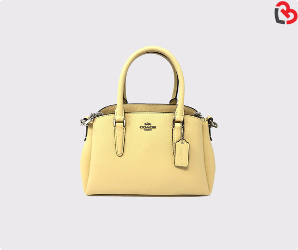 Coach Mini Sage Carryall Crossgrain Leather Bag