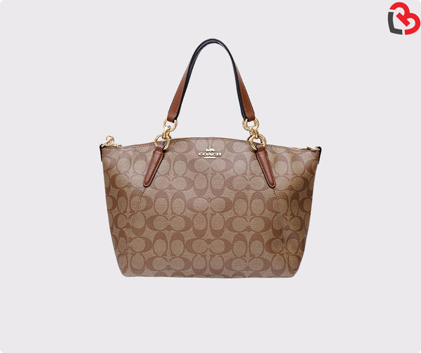 Coach Small Kelsey Satchel In Signature Canvas