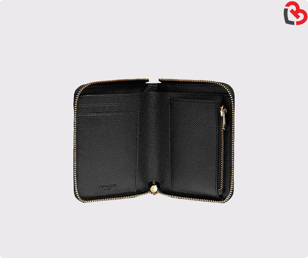 Coach Small Zip Around Wallet Black