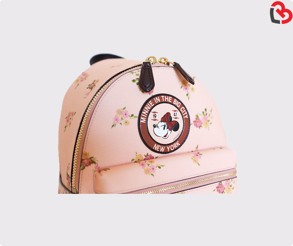 068a9b46f31 Coach Vintage Pink Disney Minnie Floral Charlie Backpack Limited Edition
