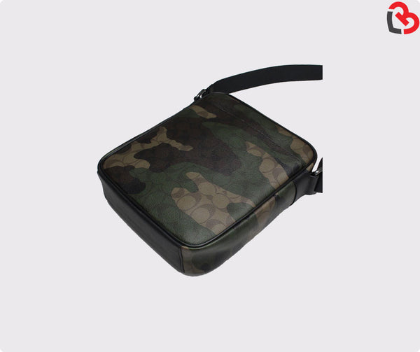 Coach Charles Flight Bag In Animated Signature Camo Print Coated Canvas