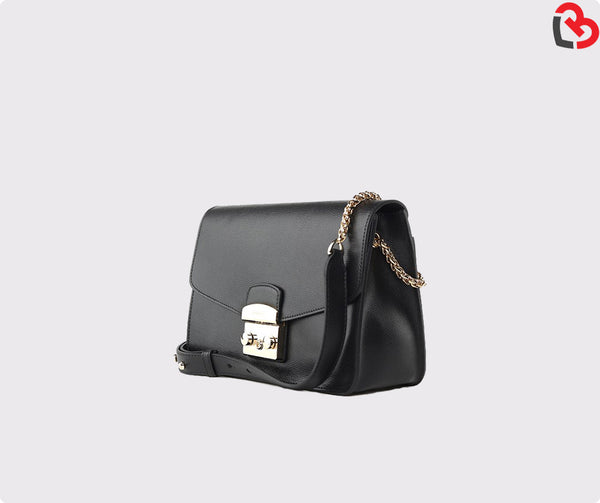 Furla Black Metropolis Small Shoulder Bag