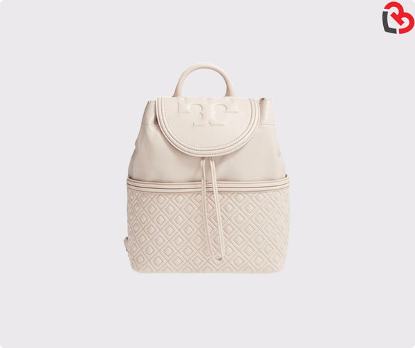 Tory Burch Fleming Quilted Lambskin Leather Backpack