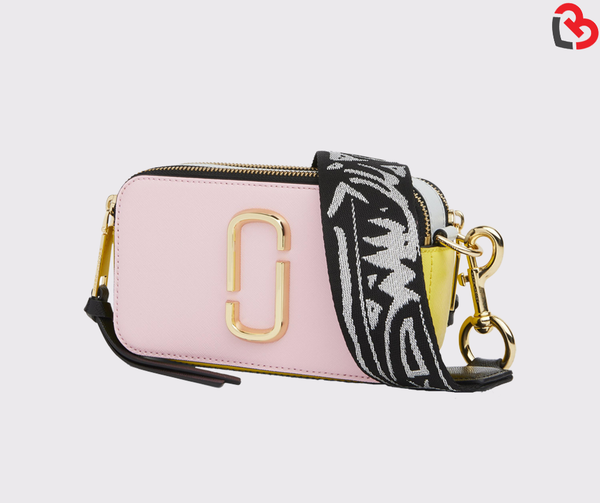 Marc Jacobs BABY PINK MULTI Snapshot Small Camera Bag