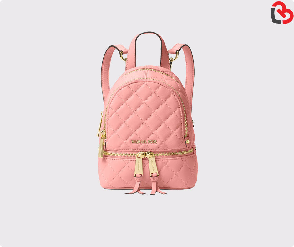 33db28e33d43 Michael Kors Rhea Extra-Small Quilted-Leather Backpack | Lovebite MY