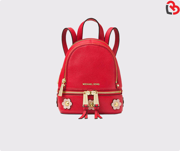Michael Kors Rhea Mini Floral Applique Leather Backpack