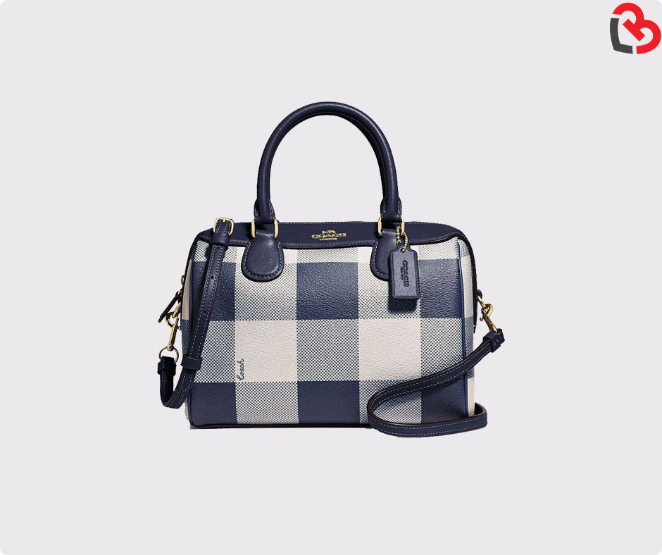 195c2fd4ca Coach Mini Bennett Satchel With Buffalo Plaid Print(F66930)