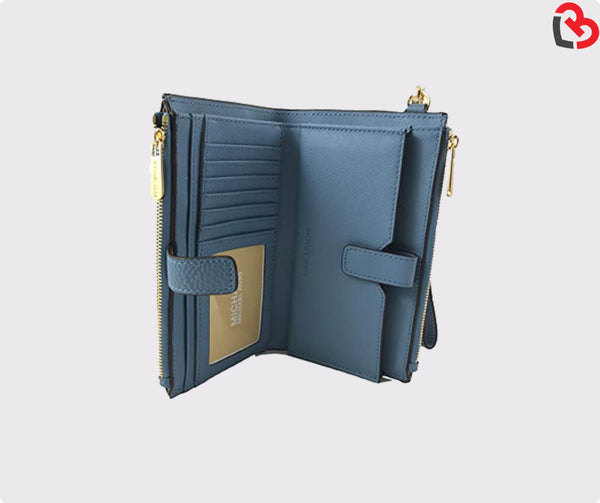 Michael Kors Navy Jet Set Travel Double-zip Wallet
