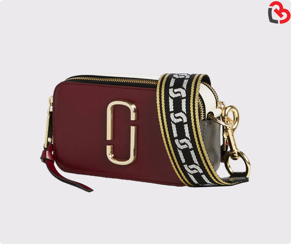 Marc Jacobs Maroon Multi Snapshot Camera Bag