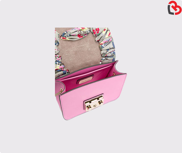 Furla Orchid Pink Leather Metropolis Mini Crossbody