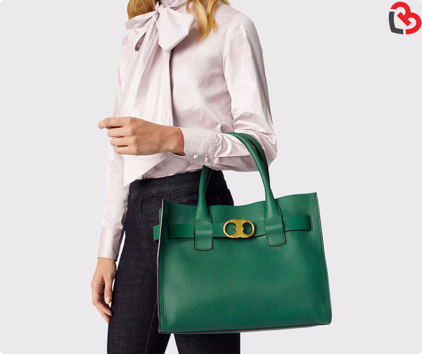 Tory Burch Gemini Link Leather Tote
