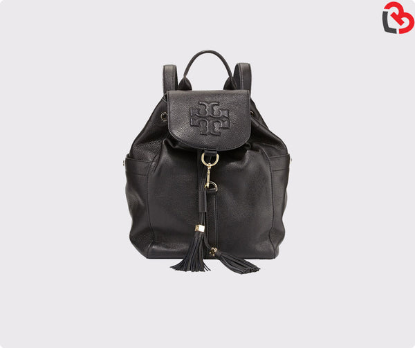 Tory Burch Black Thea Leather Backpack