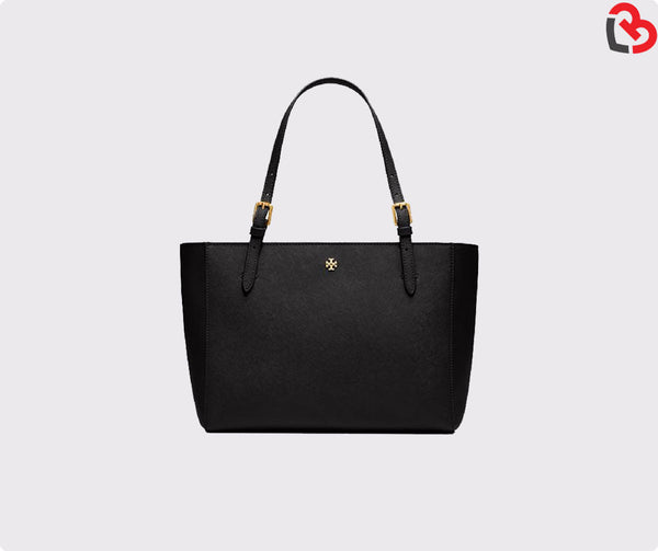 Tory Burch Black York Small Buckle Tote