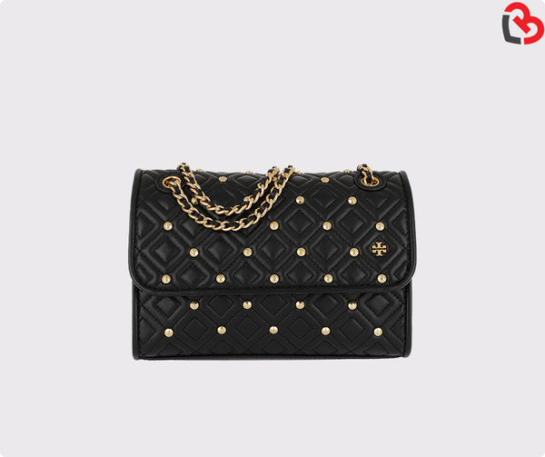 Tory Burch Fleming Stud Small Convertible Shoulder Bag Black