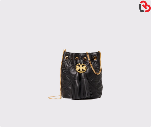 Tory Burch Chelsea Quilted Drawstring Bag Black