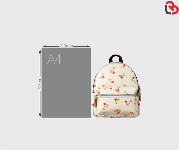 Coach Mini Charlie Backpack With Cherry Print