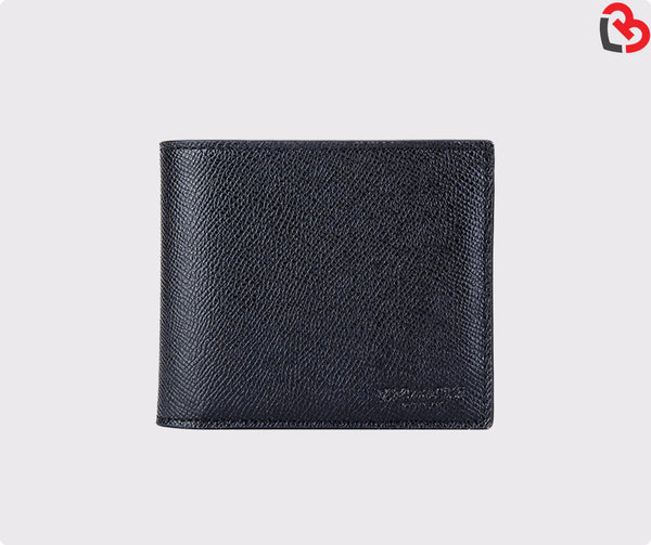 Coach Men's Compact ID Crossgrain Leather Wallet Black (F59112)