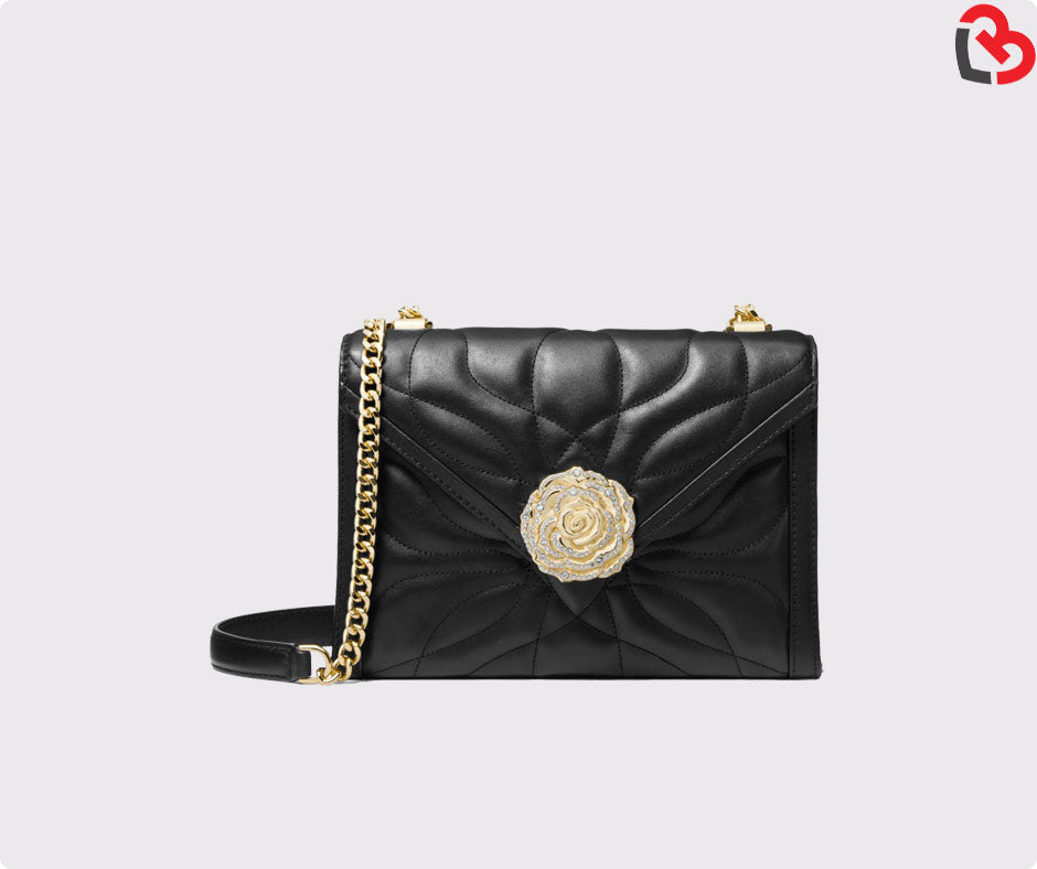 9c7607373d73 Michael Kors Whitney Large Petal Quilted Leather Convertible Shoulder Bag