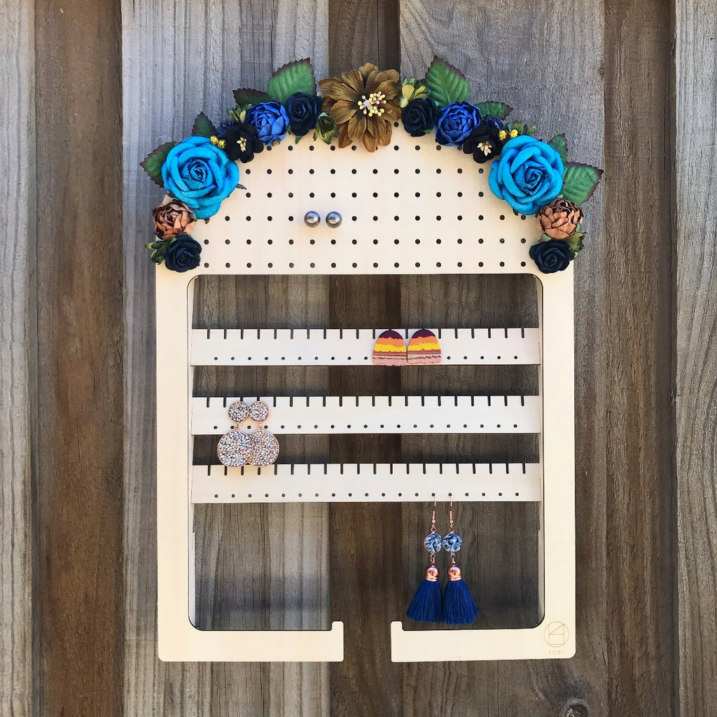 Floral Arch Hanging Adjustable Earring Holder