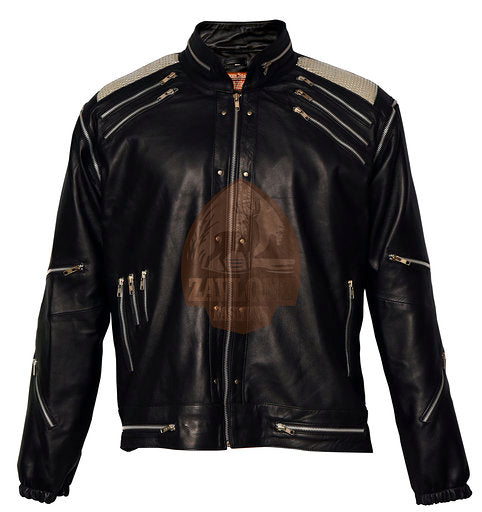 Genuine Leather Jacket Michael Jackson Beat-It 2020 Black